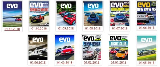 evo UK - Full Year 2018 Issues Collection