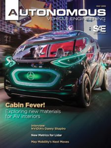 Autonomous Vehicle Engineering – May 2019