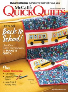 McCalls Quick Quilts – August-September 2019