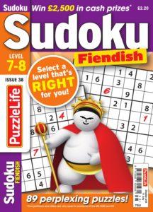 PuzzleLife Sudoku Fiendish – 01 June 2019