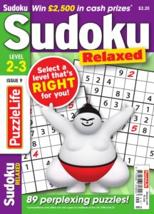 PuzzleLife Sudoku Relaxed – June 2019