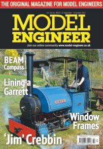 Model Engineer – 27 September 2019