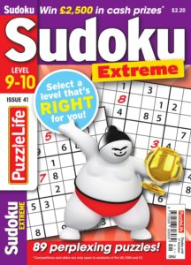 PuzzleLife Sudoku Extreme – September 2019
