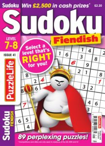 PuzzleLife Sudoku Fiendish – 01 September 2019