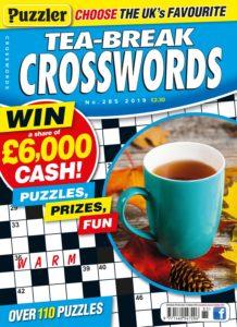 Puzzler Tea-Break Crosswords – September 2019