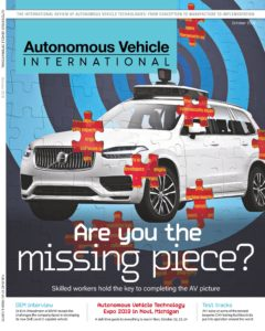 Autonomous Vehicle International – October 2019