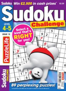 PuzzleLife Sudoku Challenge – October 2019