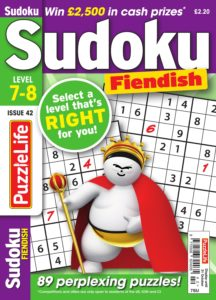 PuzzleLife Sudoku Fiendish – 01 October 2019