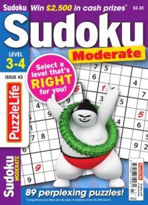 PuzzleLife Sudoku Moderate – October 2019