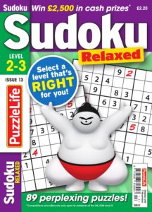 PuzzleLife Sudoku Relaxed – October 2019