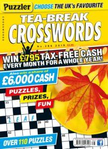 Puzzler Tea-Break Crosswords – October 2019