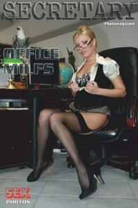 Sexy Secretary Nylon MILFs Adult Photo Magazine – October 2019