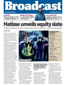 Broadcast Magazine – 15 November 2019