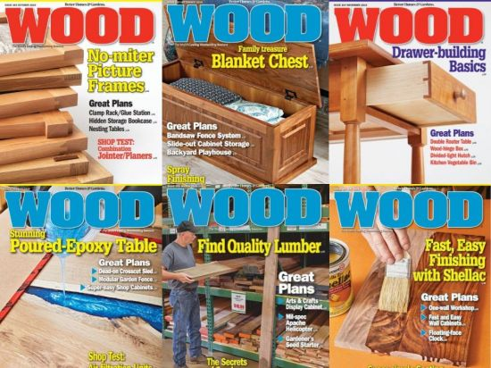 WOOD Magazine – Full Year 2019 Collection Issues