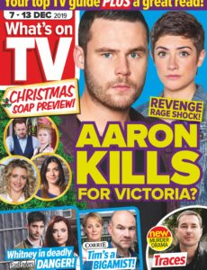 What's on TV – 07 December 2019