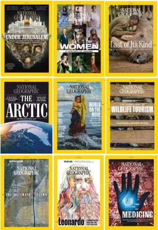 National Geographic USA – 2019 Full Year Issues Collection