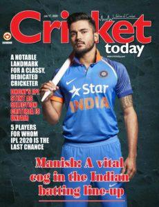 Cricket Today – January 17, 2020