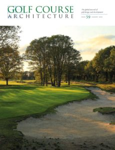 Golf Course Architecture – Issue 59 – January 2020