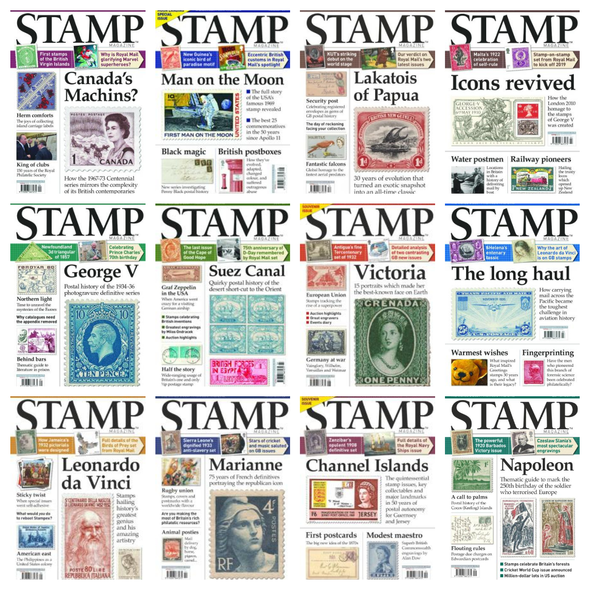 Stamp Magazine – 2019 Full Year Issues Collection