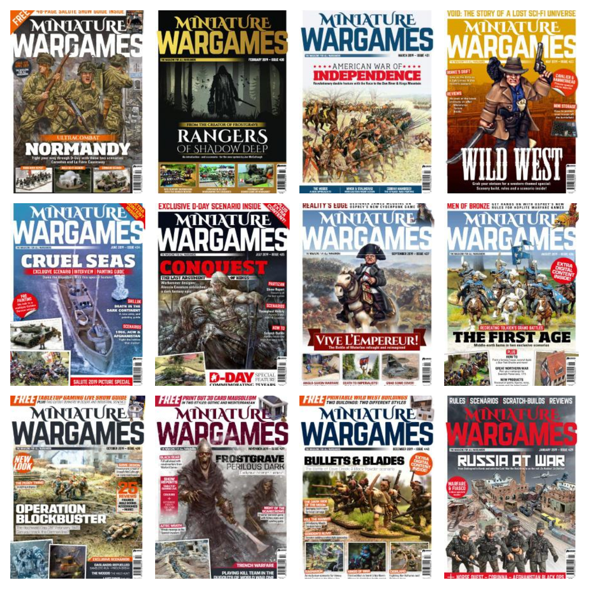 Miniature Wargames – 2019 Full Year Issues Collection