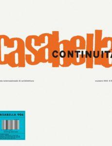 Casabella – marzo 2020