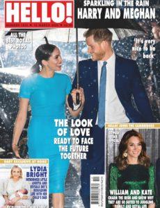 Hello! Magazine UK – Issue 1626 – 16 March 2020