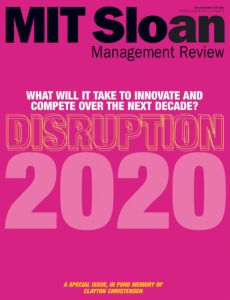 MIT Sloan Management Review – Spring 2020