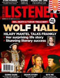 New Zealand Listener – March 21, 2020