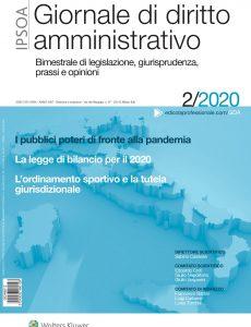 Giornale di diritto amministrativo – Aprile 2020