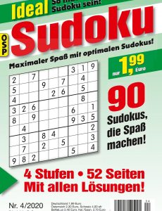 Ideal Sudoku Nr 4 – 24 April 2020