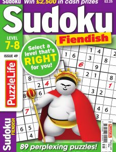 PuzzleLife Sudoku Fiendish – Issue 49 – April 2020
