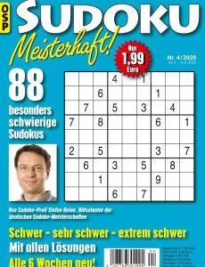 Sudoku Meisterhaft Nr 4 – 24 April 2020