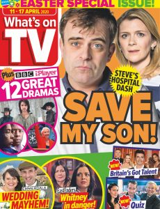 What's on TV – 11 April 2020