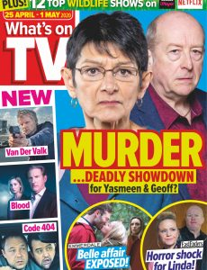 What's on TV – 25 April 2020