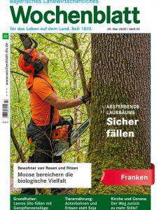 Bayerisches Landwirtschaftliches Wochenblatt Franken – 28  Mai 2020