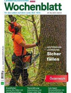 Bayerisches Landwirtschaftliches Wochenblatt Oesterreich – 28  Mai 2020