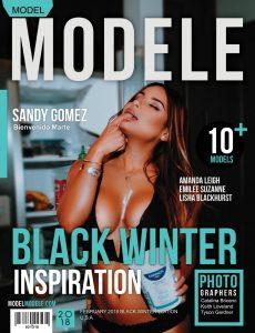 Model Modele Magazine – Black Winter Inspiration 2018