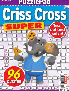PuzzleLife PuzzlePad Criss Cross Super – Issue 26 – May 2020