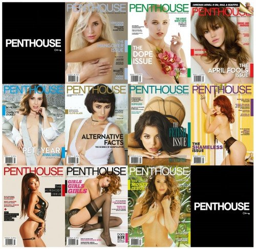 Penthouse USA – 2017 Full Year Issues Collection