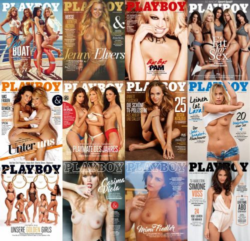 Playboy Germany – 2016 Full Year Issues Collection