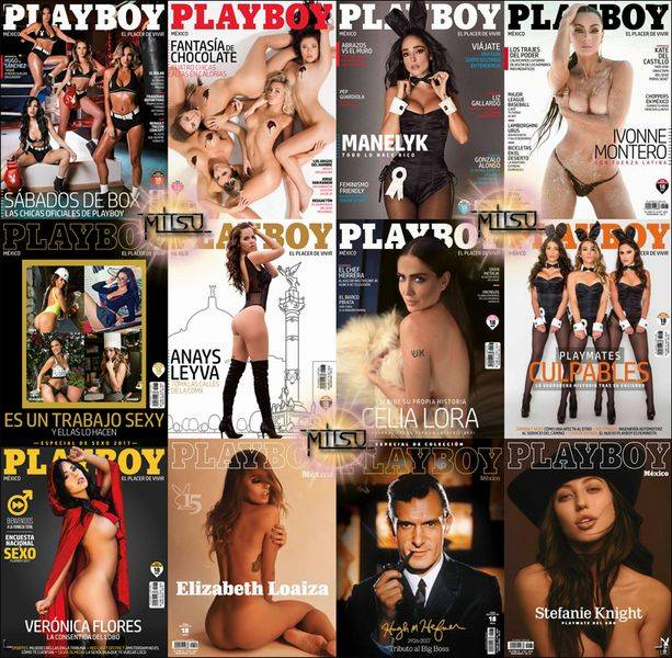 Playboy Mexico – Full Year 2017 Issues Collection