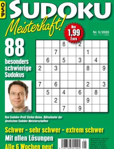 Sudoku Meisterhaft – Nr 5 2020