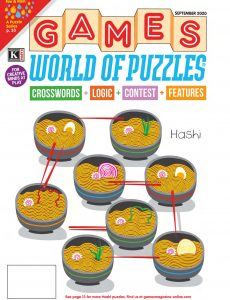 Games World of Puzzles – September 2020
