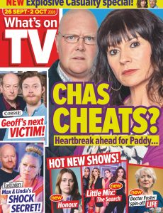 What's on TV – 26 September 2020