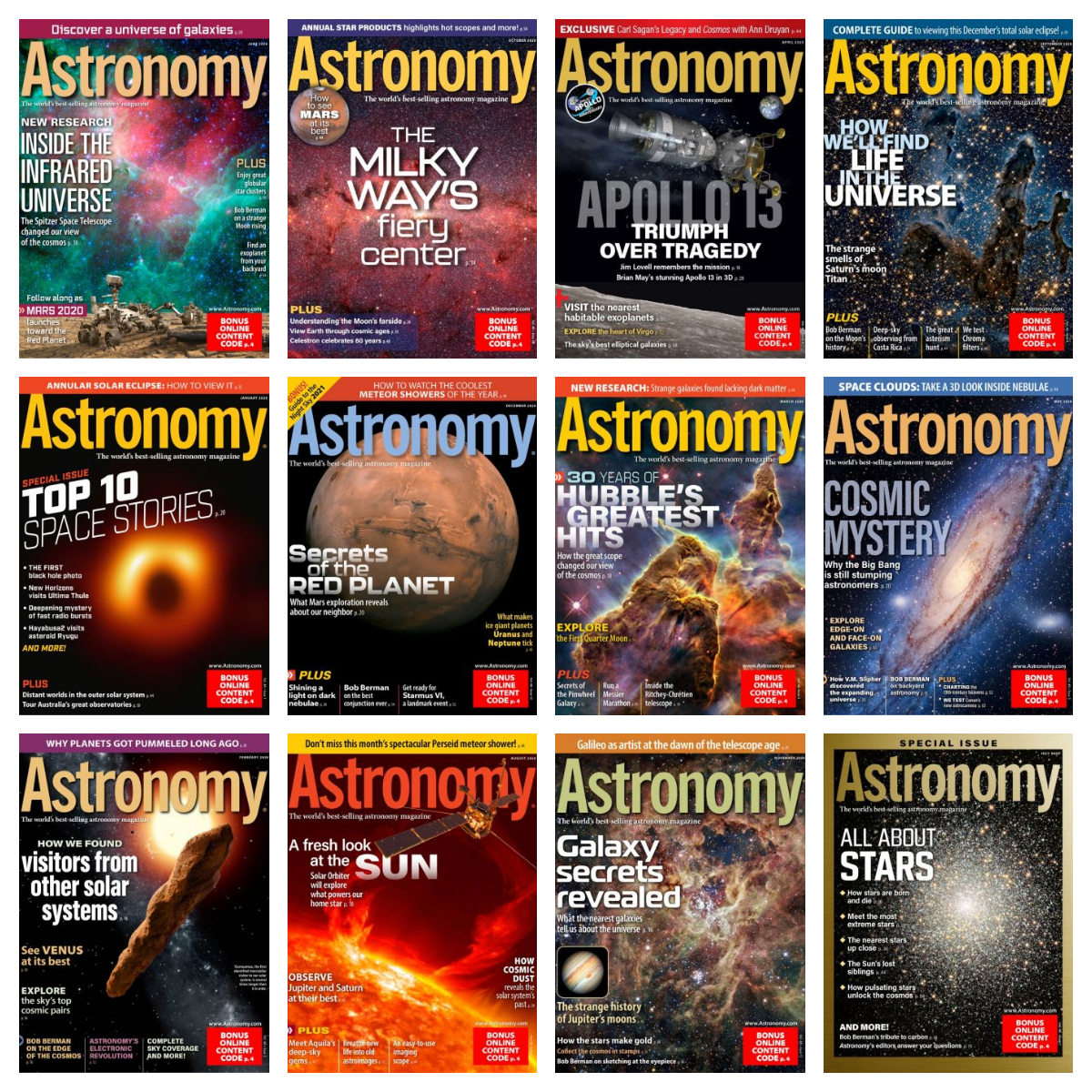 Astronomy – Full Year 2020 Collection