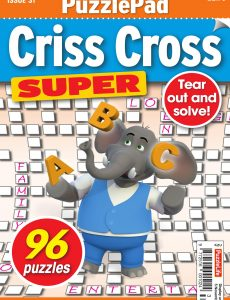PuzzleLife PuzzlePad Criss Cross Super – Issue 31 – October 2020