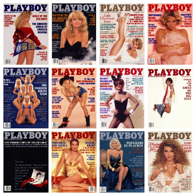 Playboy USA – Full Year 1992 Issues Collection
