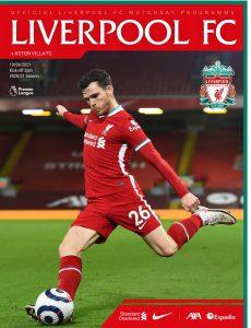 Liverpool FC Programmes – vs Aston Villa – 10 April 2021