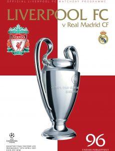 Liverpool FC Programmes – vs Real Madrid – 14 April 2021