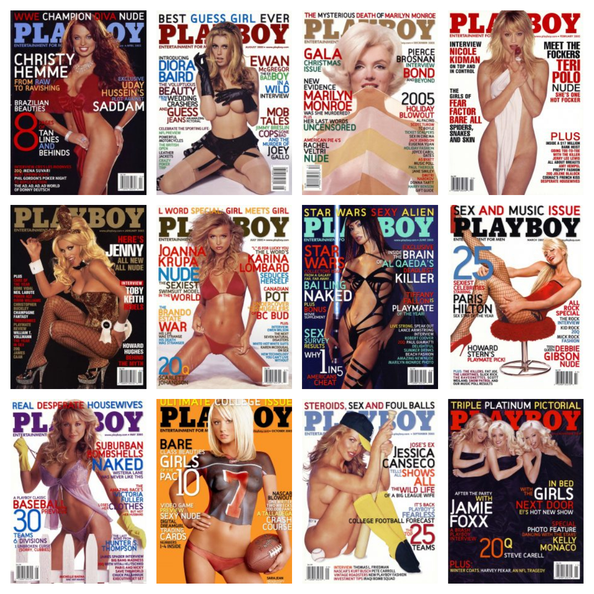Playboy USA – Full Year 2005 Issues Collection